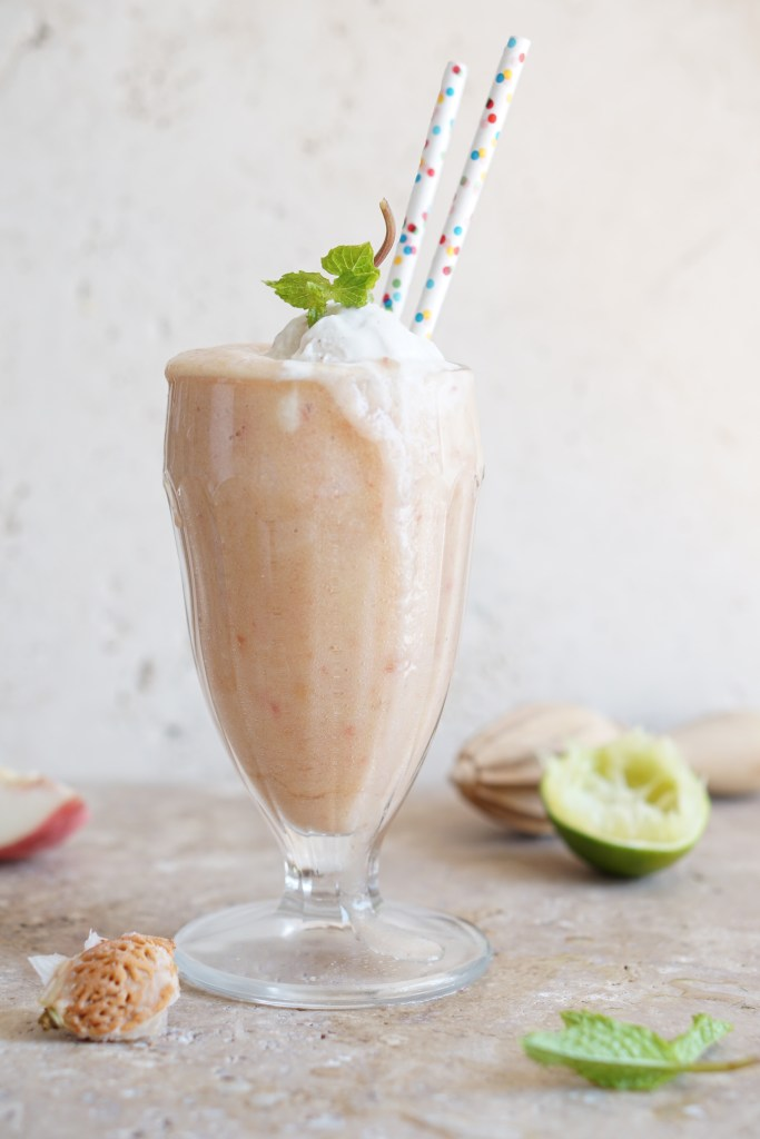 White Peach Kombucha Float {AIP} by Healing Family Eats