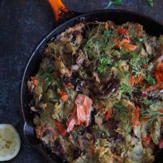 sweet potato and salmon hash {AIP}