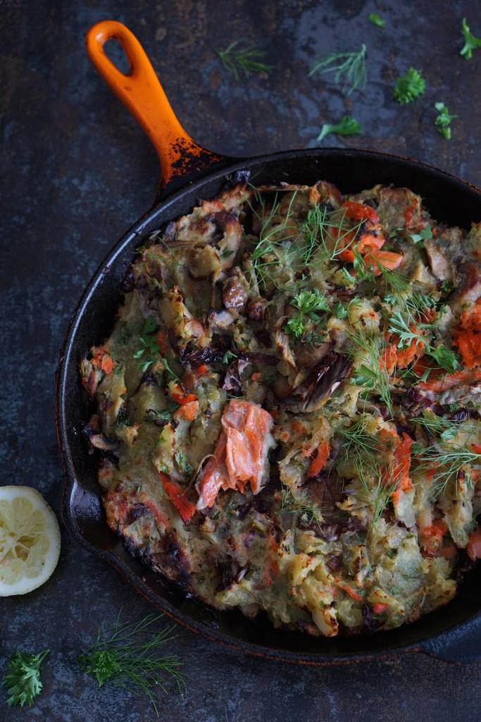 sweet potato and wild salmon hash {AIP} by Healing Family Eats