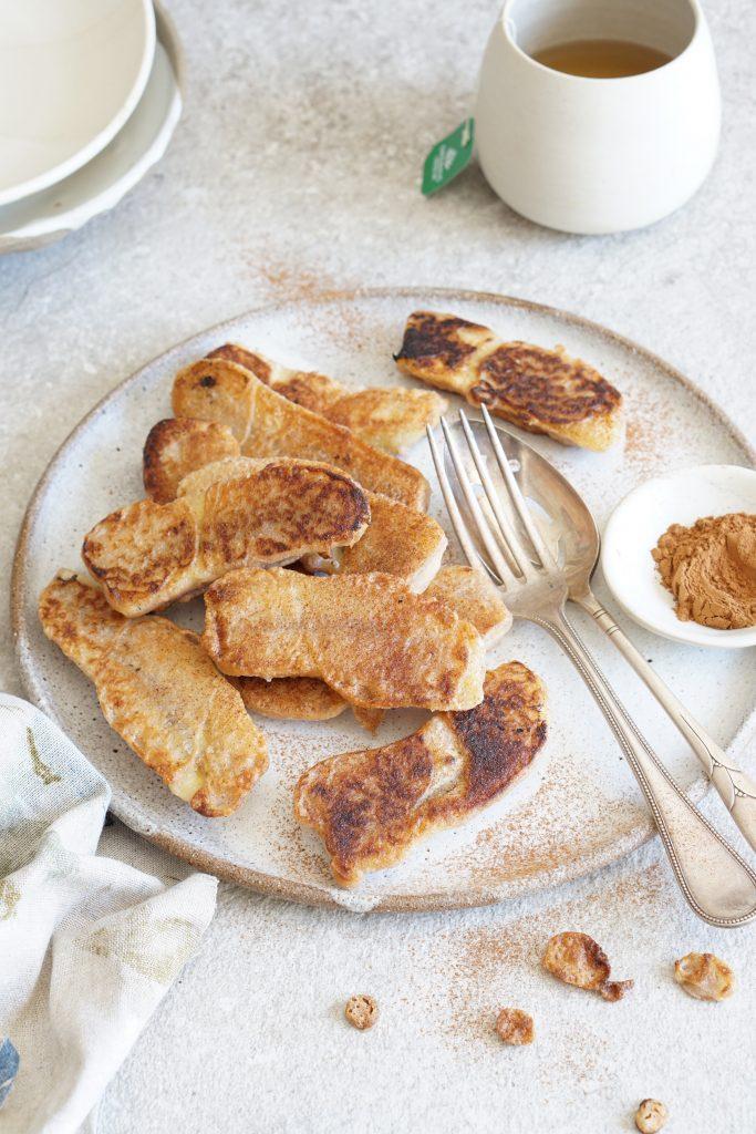 banana cinnamon fritters [AIP]