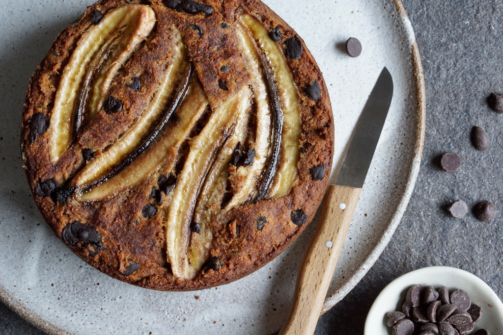 Banana Carob Chocolate Chip Cake AIP