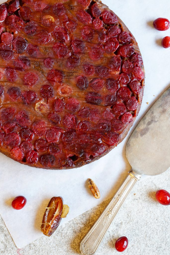 Cranberry Date Upside Down Cake