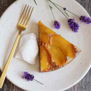 AIP Peach and Lavender Cake {AIP} lscape