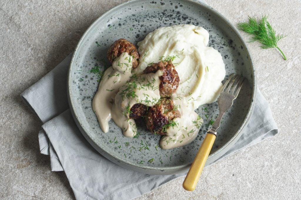Lamb Dill Meatballs Mushroom Sauce - Healing Family Eats