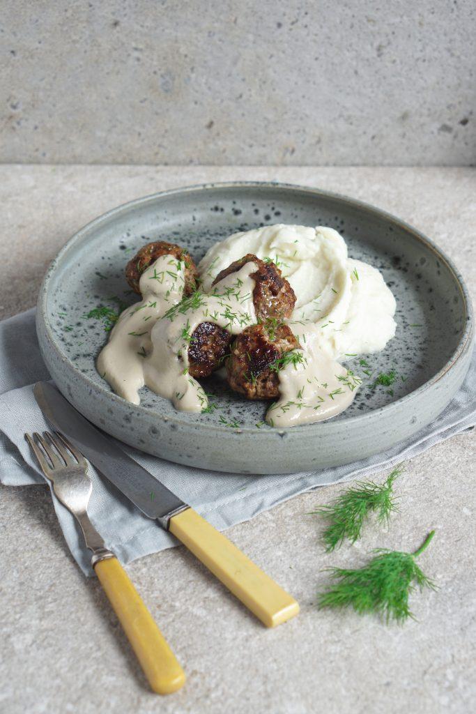 Lamb Dill Meatballs with Mushroom Sauce - Healing Family Eats