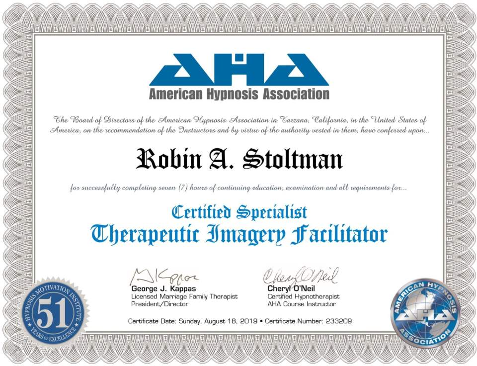 Certified Specialist in Therapeutic Imagery Facilitator
