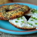A quick and delicious recipe for Paleo bagels that are perfect for topping with wild salmon lox and cream cheese.