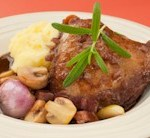 Slow Cooker Coq au Vin (Chicken with Wine)