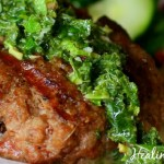 Lamb Burgers with Kalamata Olives and Mint Gremolata