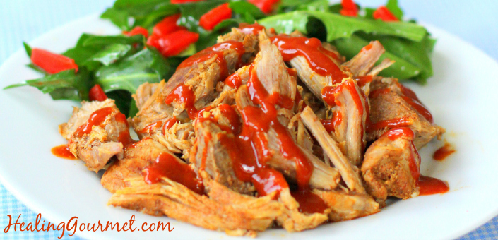 Pressure Cooker Pulled Pork in 2 Hours- Healing Gourmet