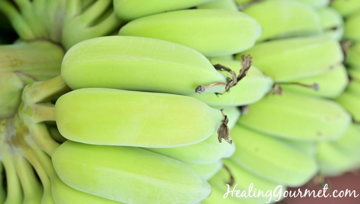resistant starch in green bananas