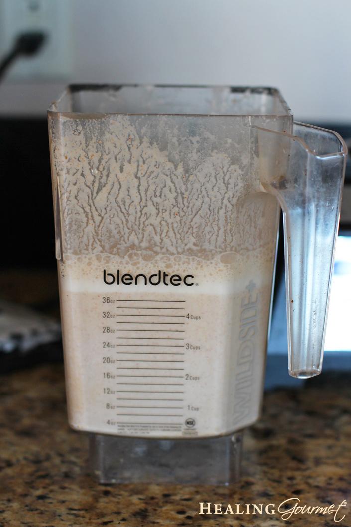 homemade blended almond milk