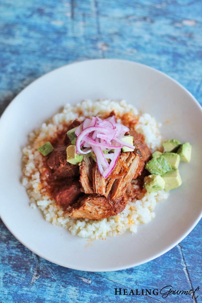 Plate the cochinita pibil