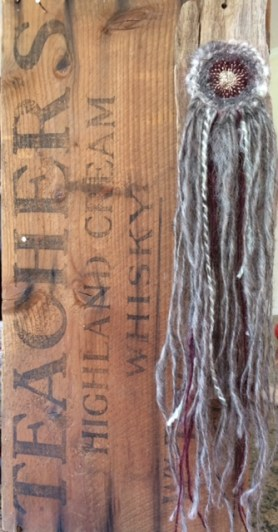 Circular weave wall hanging.