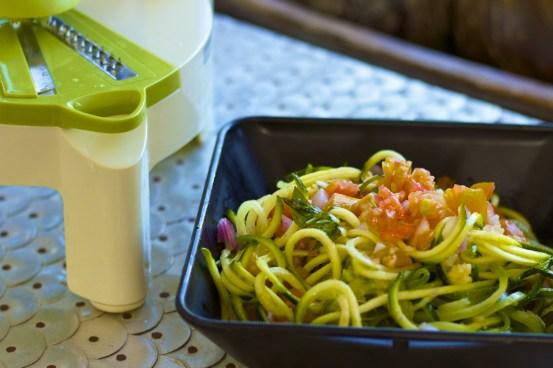raw zucchini spaghetti