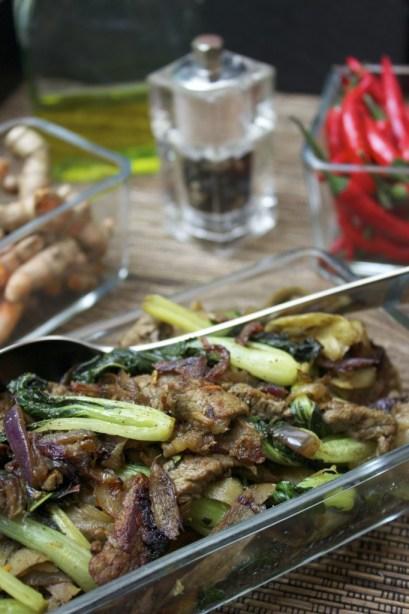antihistamine and anti-inflammatory burdock root stir fry