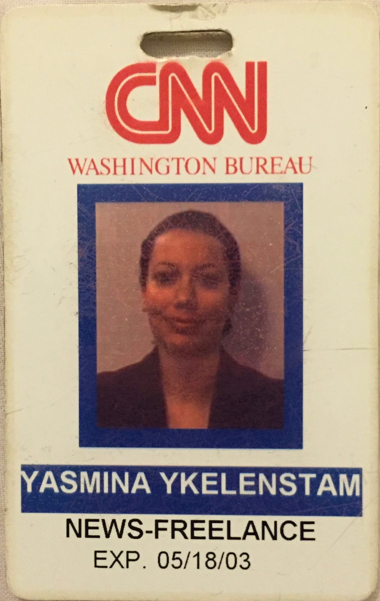 And the inflammation really kicking in here…another CNN Washington D.C. press card