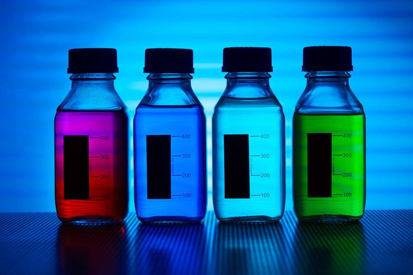 set of of food colorants, food additives