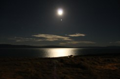 Midnight Moon in Patagonia