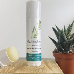 CBD salve stick healing leaf sc