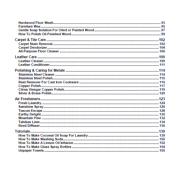 table of contents2_cleaners