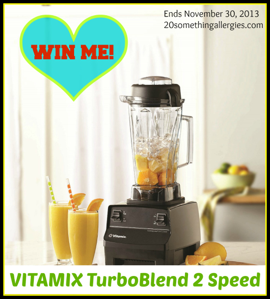 !Giveaway! VITAMIX TurboBlend High Speed Blender ($399 value) | 20somethingallergies.com |