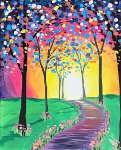 Magical Walk Through the Woods Painting