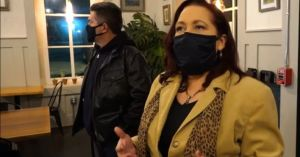 Spirit Medium Karen T. Hluchan and Dominic Sattele investigating paranormal activity