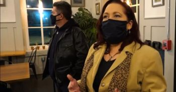 Spirit Medium Karen T. Hluchan and Dominic Sattele investigating paranormal activity