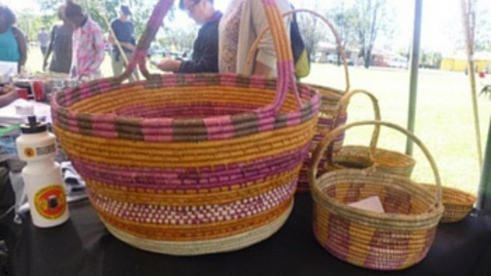 Basket Weaving at Barunga Festival