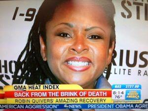 Robin Quivers credits her vegan diet for her recovery from cancer.