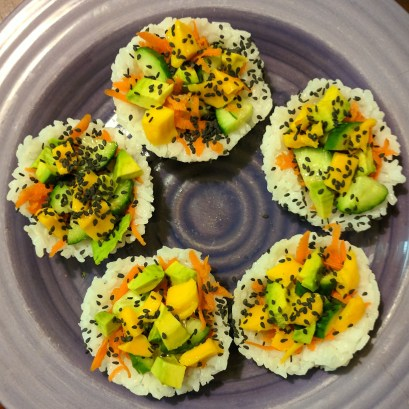 The finished Garden Sushi Cups