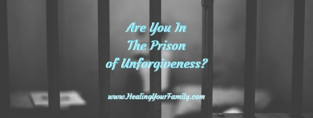 """Prison bar background to header that says, """"Are You In The Prison of Unforgiveness?"""""""