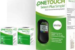 OneTouch Select Plus Simple Glucometer And strips combo