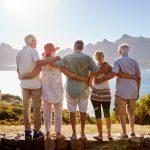 Senior Friends Visiting Tourist Landmark