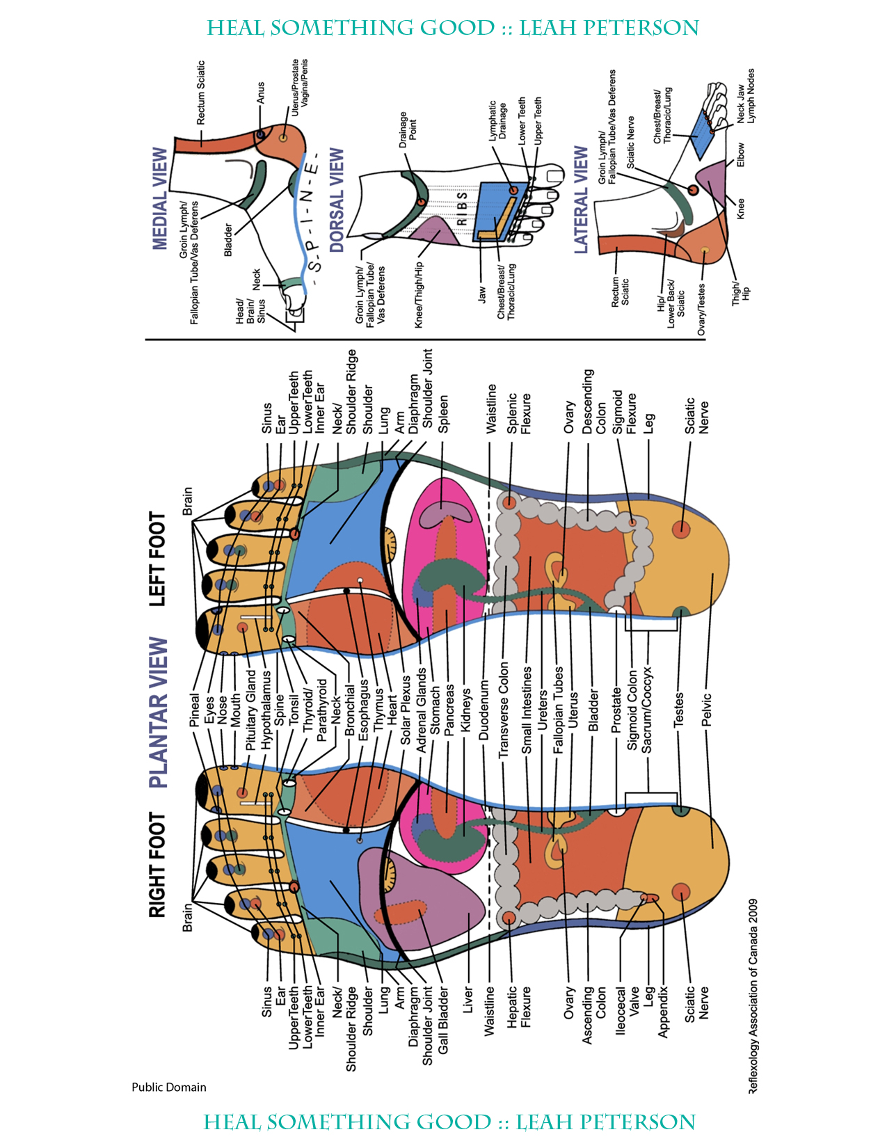 Chart Reflexive Foot Heal Something Good