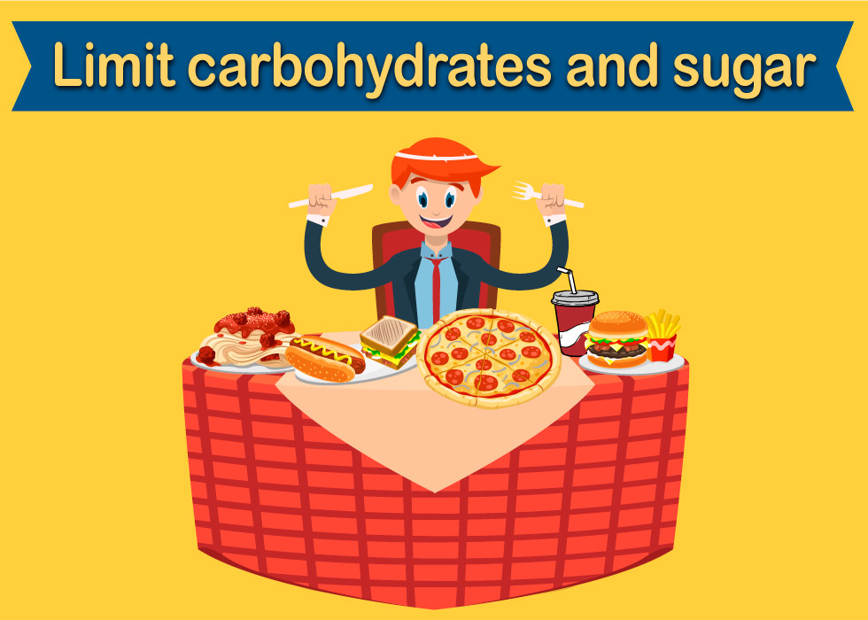 Limit carbs and sugar on keto diet