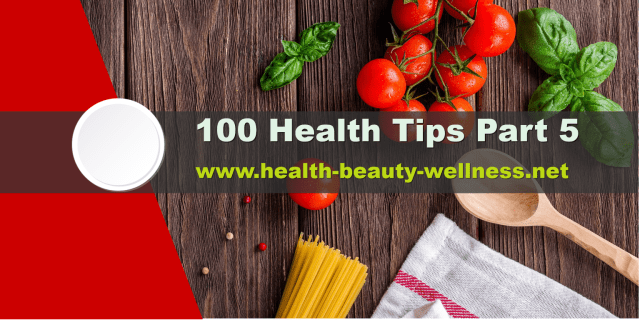 100 health tips for your immune system and body