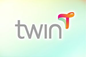 Twin Health logo on a gradient background