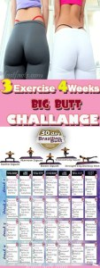3 exercise 4 weeks big butt challenge