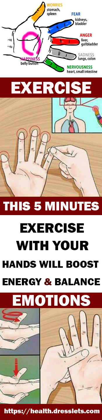 THIS 5 MINUTES EXERCISE WITH YOUR HANDS WILL BOOST ENERGY & BALANCE EMOTIONS