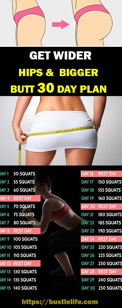 Get Wider Hips & Bigger Butt 30 Day Plan