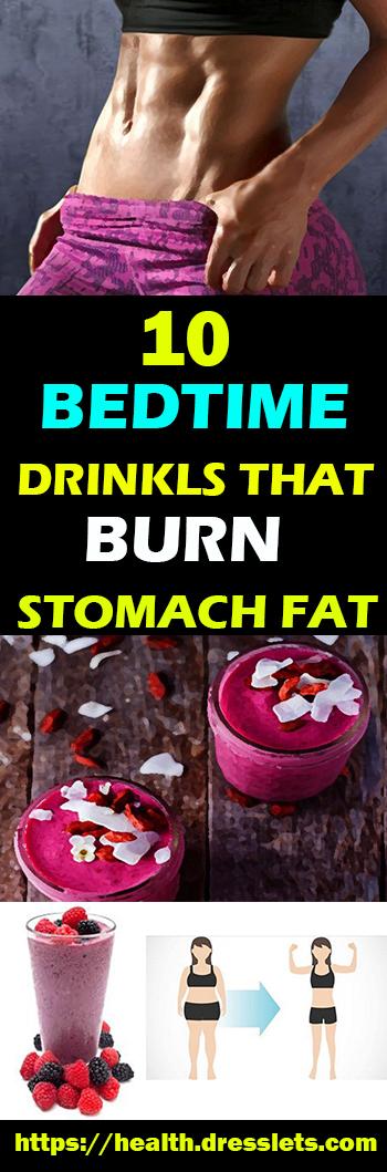 10 BEDTIME DRINKLS THAT BURN STOMACH FAT