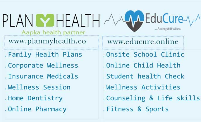 Plan My Health & Educure delivering all kind of Digital preventive & Online wellness Services to Corporate, Schools & families