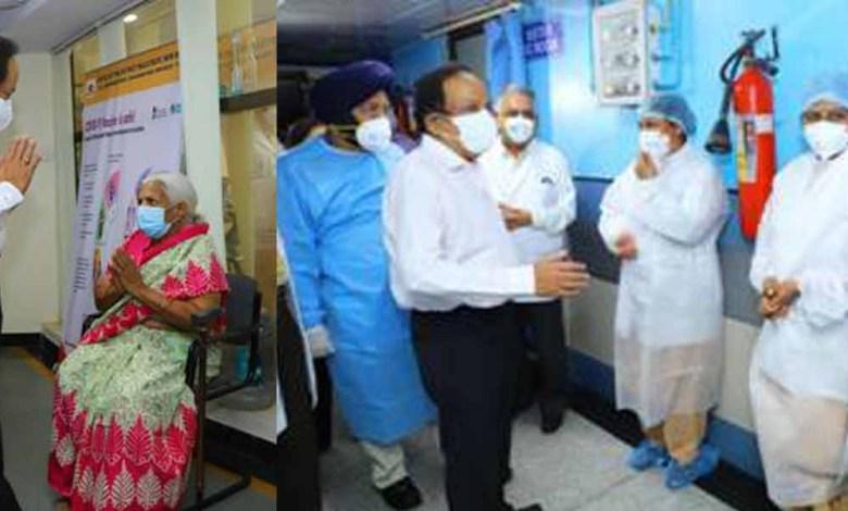 Union Health Minister Dr. Harsh Vardhan reviews COVID19 management Preparedness at RML Hospital, New Delhi