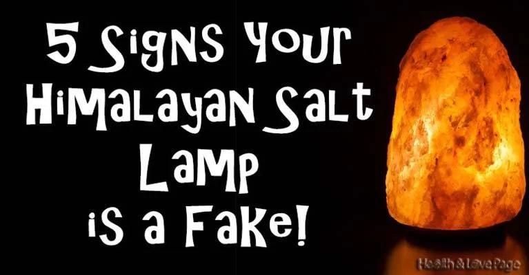 5 Signs That You Have a Fake Himalayan Salt Lamp!