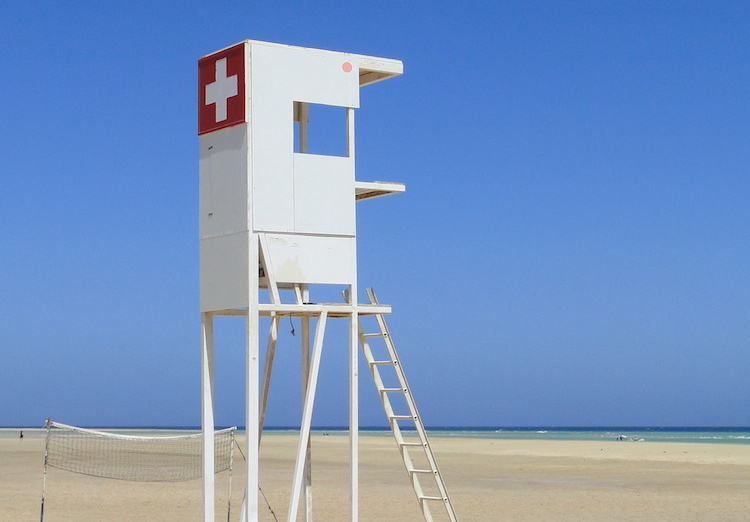 Erste Hilfe Jeder Strand wird überwacht