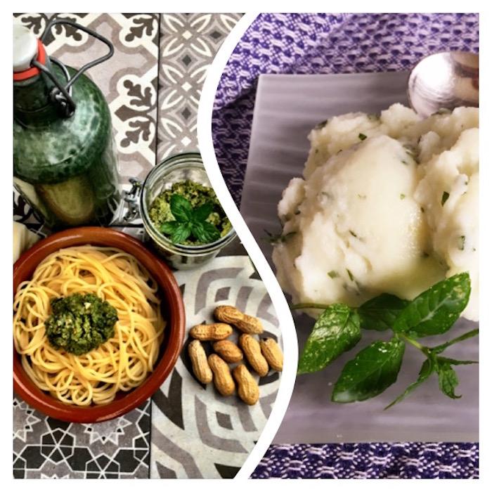 Meine liebsten MInze Rezepte erst Pesto zu Spaghetti dann erfrischendes Sorbet healthandthecity.de