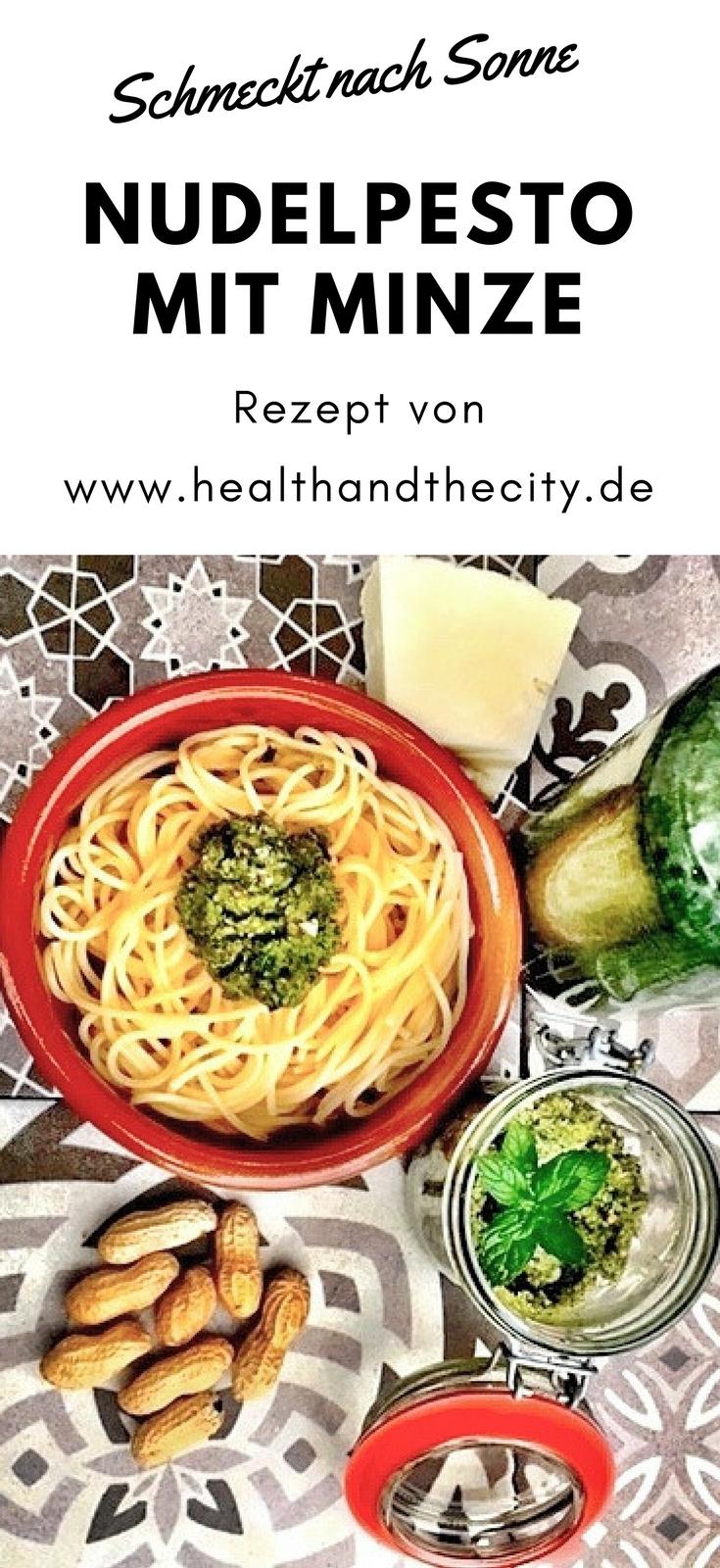 Minze Rezepte: Minze-Pest mit einer leicht schaften Note perfekt zu Nudeln; Rezept von healthandthecity.de