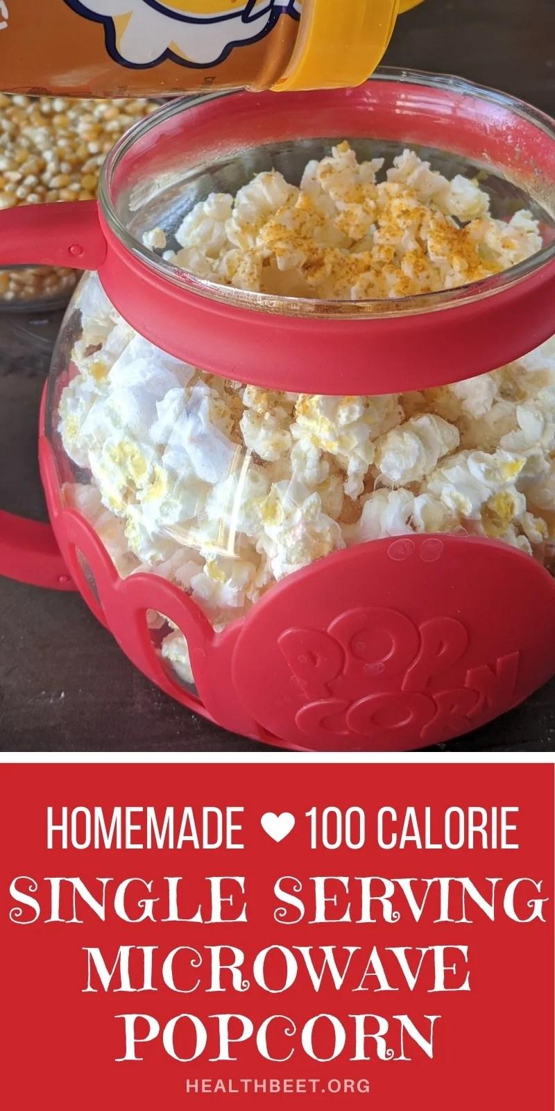 homemade 100 calorie microwave popcorn
